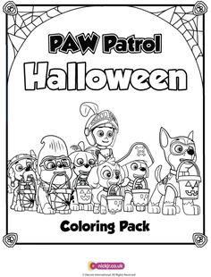 037448265b4 PAW Patrol Halloween Coloring Pages Malen Und Zeichnen