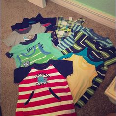 Baby boy outfits- saved bundle Baby boy outfits. 10 outfits in great condition! Sizes 3-6 months. Carters and Oskosh brand. Other