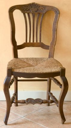 Pair Of Arm Dining Chairs Country French Rush Seats Country - Country french chairs