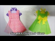 A Blouse & Sleeveless Dress / skirt / shirt / braces / cloth How to Make an Origami Dress / Paper folding / Folding paper / ...
