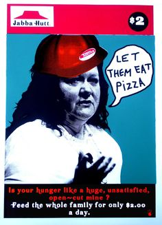 "AUD$60 includes free registered post Australia wide ""Let Them Eat Pizza"" Screenprint by Franck Gohier  www.redhandprints.com"