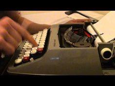 ▶ Typewriter drawing