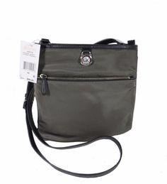 683ace1c71419f Michael Kors Graphite Kempton LG Pocket Crossbody Handbag for sale online |  eBay