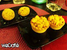 Tredici Tapas Bar / Brisée con pollo al curry (chicken) - Polpette di verdure (vegetable balls)