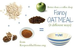 Fancy, Flavored Oatmeal Made 4 Ways {Better Than a Coffee Shop} - Keeper of the Home