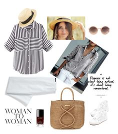 """""""Summer stripes"""" by liubet80 on Polyvore featuring Lands' End, ViX, Superga, Chanel, Girly and Linda Farrow"""