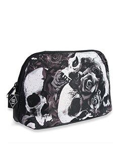 Liquorbrand Doomed Gothic Skulls Roses Cosmetic Toiletry Make-Up Bag Black Black, http://www.amazon.co.uk/dp/B01989Q9CQ/ref=cm_sw_r_pi_awdl_nu.Rwb0RW5BTW