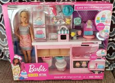 Check out Barbie Cake Decorating Playset featuring 10 pieces for storytelling and baking fun! Explore dolls and playsets at our Barbie shop today! Mattel Barbie, Barbie Club, Barbie Shop, Barbie And Ken, Barbie Birthday Cake, Novelty Birthday Cakes, Baking Set, Baking With Kids, Cake Decorating Tools