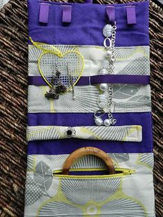 Personalized Bridesmaid Gift Jewelry Roll Large by CraftyStitches, $45.00