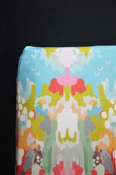fitted crib sheet in watercolor ikat
