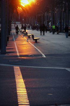 Agony of the sun (Barcelona, Spain)