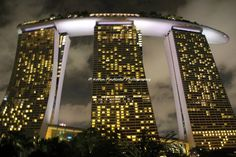 Night Photography: Marina Sands Bay, Singapore by Karen Findlater Photography