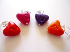 Valentine hearts stitch markers set of 4 by AbsoKnittingLutely, £8.00