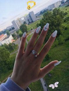 Pin on Teknoloji This Pin was discovered by xaria hawi. Discover (and save!) your own Pins on Pinterest. #dippowdernails #purplenails<br> Jun 14, 2020 - Enjoy exclusive range of nail colors! acquire impressive shine nail color or rocking glitter nail color on your nails and make magic. -- You can find more details by visiting the image link. (This is an affiliate link) #dippowdernails #purplenails White Acrylic Nails, Summer Acrylic Nails, Best Acrylic Nails, White Coffin Nails, White Acrylics, Aycrlic Nails, Matte Nails, Gradient Nails, Holographic Nails