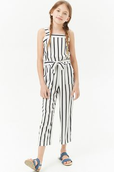 Product Name:Girls Striped Jumpsuit (Kids), Category:girls_main, Little Girl Outfits, Kids Outfits Girls, Cute Summer Outfits, Girls Dresses, Cute Outfits, Tween Fashion, Fashion Outfits, Fashion Trends, Women's Fashion