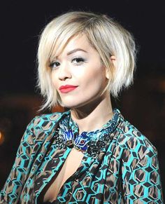 Rita Ora Platinum Hair
