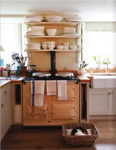 Shabby Chic Kitchens | decorology: Small kitchens that still get the job done...