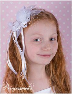 Nr.76 Hauchzarte Blumen auf Haarreifen! Festlich! - Princessmoda - Alles für Taufe Kommunion und festliche Anlässe