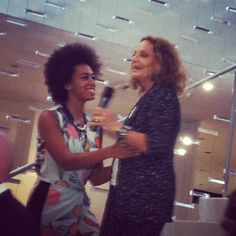 Solange Knowles and Diane von Furstenberg at Fashion's Night Out #FNO #DVF