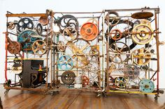 Jean Tinguely (22 May 1925 in Fribourg, Switzerland – 30 August 1991 in Bern) was a Swiss painter and sculptor. He is best known for his sculptural machines or kinetic art, in the Dada tradition; known officially as metamechanics. photo by photo-maker, via Flickr