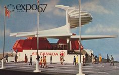 Air Canada Pavilion at Expo - Montreal, Quebec by What Makes The Pie Shops… O Canada, Canada Travel, Alberta Canada, Expo 67 Montreal, Montreal Quebec, Architecture Design, Canadian History, Old Advertisements, Lounge