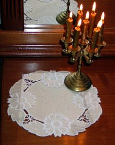 Advanced Embroidery Designs - Cutwork Lace Flower Doily