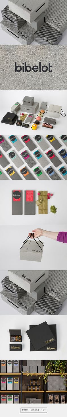 Bibelot via BP&O identity packaging branding curated by Packaging Diva PD. Beauty in black and white with a pop of color.