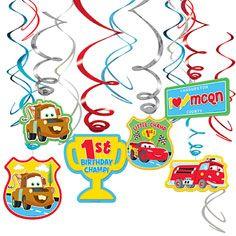 Cars 1st Bday Swirl Decorations