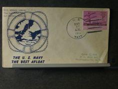 USS BERRIEN APA-62 Naval Cover 1946 Lifebuoy Cachet