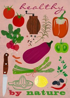 Healthy by nature. Lovely colors and design.