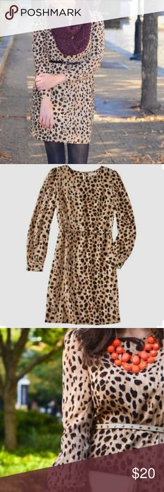 Merona Leopard Dress-Size L Merona Leopard Dress-Size L perfect dress to dress up or down! Excellent condition! Merona Dresses