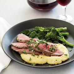 Lemon and Fennel Roasted Lamb with Polenta