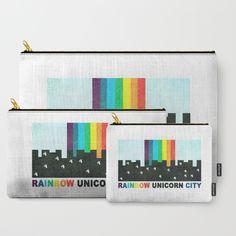 Rainbow Unicorn City Carry-All Pouch