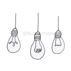 Bright Ideas - Rubber Art Stamp – RubberMoon