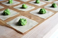 Herb and Edamame DumplingsMakes 20 dumplingsIngredients1 cup organic edamame, cooked and shelled (consider frozen shelled edamame and boil for 5 minute)1 tbsp ginger, peeled and minced3 scallions, white and light green parts chopped1 clove of garlic, minced1/4 cup cilantro, chopped1/8 tsp chili flakes1 tsp lemon zest2 tsp sesame oil20 wonton wrappers + a few extras for damage controlWater or vegetable broth for steaming or avocado oil for pan frying