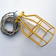 Birdcage Lamp EU Yellow Putty, 69€, now featured on Fab.
