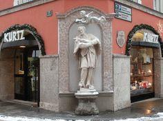 Statue of Saint John of Nepomuk in Windischgarten, Austria