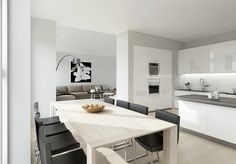 Sophiscated-White-Kitchen-Diner-With-Black-Stools-Also-Grey-Sofas-With-Contemporary-Furniture-Ornament-And-White-Cabinetry-Completly-With-Wall-Mounted-Electric-Oven-Design-Ideas-Unique-Dining-Room-Decor.jpeg (1024×715)