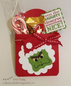The Grinch Treat Pouch by LorriHeiling - Cards and Paper Crafts at Splitcoaststampers