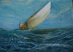 Départ, Techniques mixtes sur toile, 50 x 70 cm, vendu