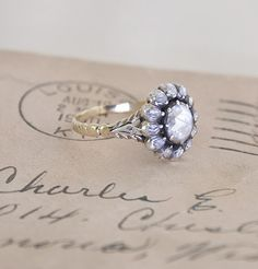 beautiful vintage engagement ring/ erica weiner