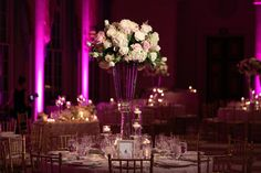An Elegant Wedding at The Breakers Palm Beach, Danielle & Evan Wedding Table Decorations, Centerpiece Ideas, Centerpieces, Strictly Weddings, Real Weddings, Danielle Evans, Breakers Palm Beach, Palm Beach Wedding, Pink Bridesmaid Dresses