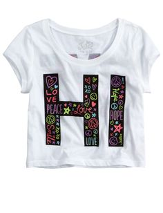 Hi- Bye Crop Tee | Crops | Graphic Tees | Shop Justice