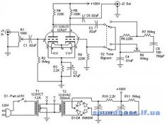 Tim S 12au7 Tube Preamplifier Schematic