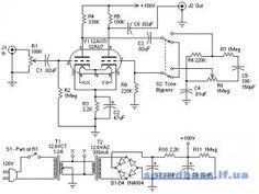 Tim S 12au7 Tube Preamplifier Schematic