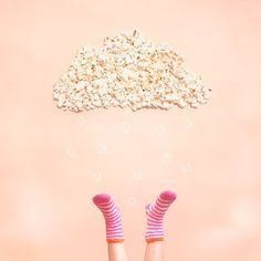 In my wold there are clouds stuffed with pop corn @inmypinata #popcorn #inmypinata #designfiesta #upsidedown