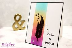Simon Says Stamp Wednesday challenge, Jan 16 - Clean & Simple Feather Cards, Hello To Myself, Simon Says Stamp, Hero Arts, Masking, Cas, I Card, Feathers, Wednesday
