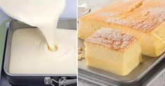 Sunny: A recipe for a magical cake. You make one mass, and she will split into two when baking! Sweet Desserts, Sweet Recipes, Yummy Snacks, Yummy Food, Czech Recipes, Desert Recipes, Finger Foods, Baking Recipes, A Table