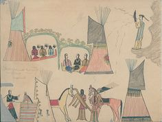 Collections Search Center, Smithsonian Institution. Making Medicine Drawing, Cheyenne. 1875.
