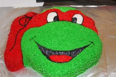 Teenage Mutant Ninja Turtle Party cake!  @thepielesstraveled.blogspot.com